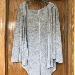Gray hoodie cardigan